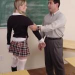 Naughty Schoolgirl Gets Hand Spanking From Teacher 01