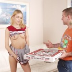 Horny Blonde Teen Cheerleader Fucks the Pizza Guy 02