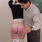 Naughty Schoolgirl Gets Hand Spanking From Teacher 07