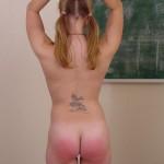 Naughty Schoolgirl Gets Hand Spanking From Teacher 08
