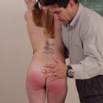 Naughty Schoolgirl Gets Hand Spanking From Teacher 10