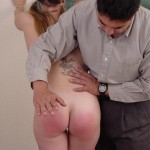 Naughty Schoolgirl Gets Hand Spanking From Teacher 12