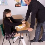 Schoolgirl Tiffany Star in Knee Socks Fucked in Classroom 02