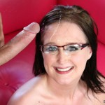 Coed Cutie Blaire Banks Gets Her Glasses Sprayed With Cum 24