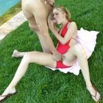 Petite Teen Michelle Honeywell Fucked in the Grass 03
