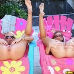 Teen Babes Vanessa Cage & Riley Reid Double Team Lucky SOB 05