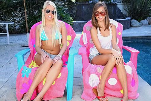 Teen Babes Vanessa Cage & Riley Reid Double Team Lucky SOB