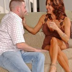 Horny Brunette MILF Tara Holiday Fucks On A Couch 03