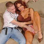 Horny Brunette MILF Tara Holiday Fucks On A Couch 05