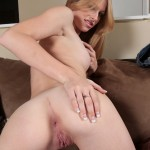 Avril Hall Starts Drooling While Gagging on Cock 11