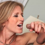 Sexy Cougar Jade Jamison Loves Her Warm Cum Facial 20