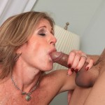 Sexy Cougar Jade Jamison Loves Her Warm Cum Facial 21